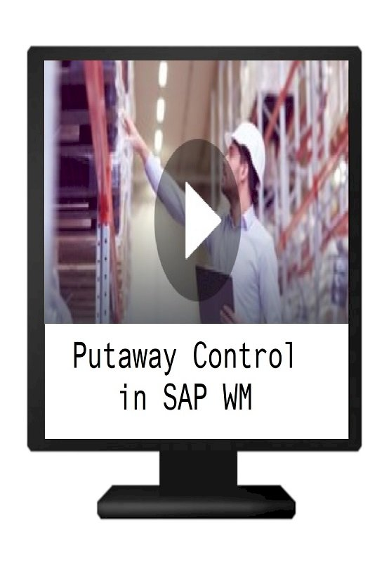 Putaway Control in SAP Warehouse Management