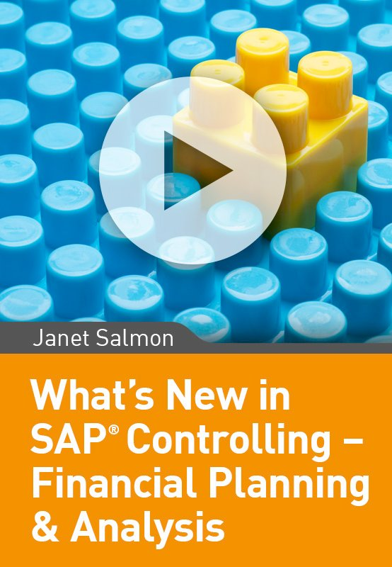 What's New in SAP Controlling – Financial Planning & Analysis