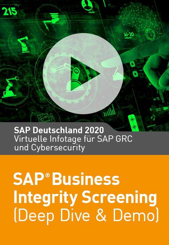 SAP Business Integrity Screening (Deep Dive + Demo)