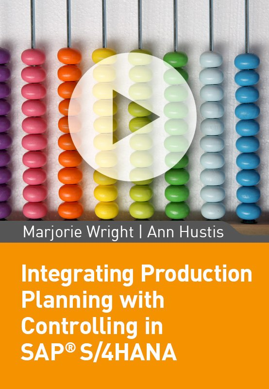 Integrating Production Planning with Controlling in SAP S/4HANA