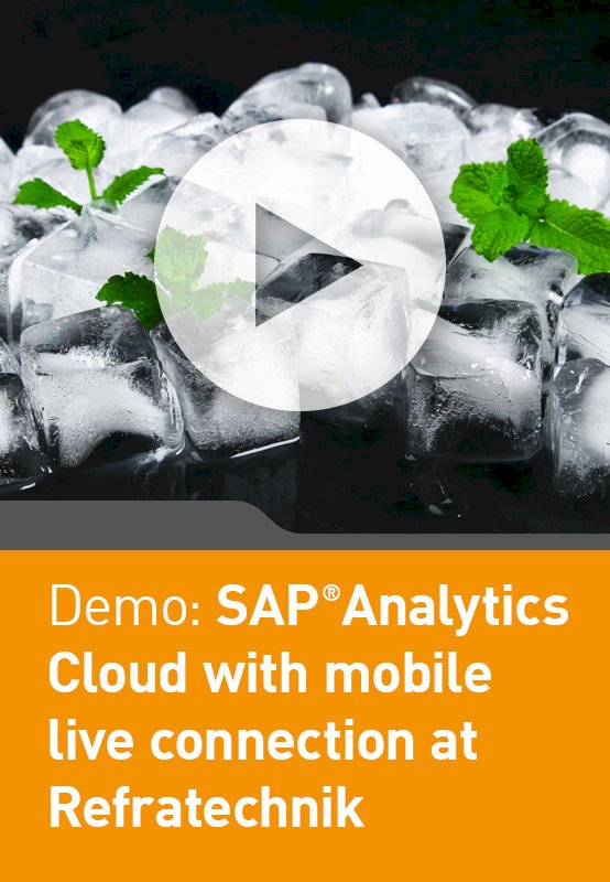 Demo: SAP Analytics Cloud with mobile live connection at Refratechnik