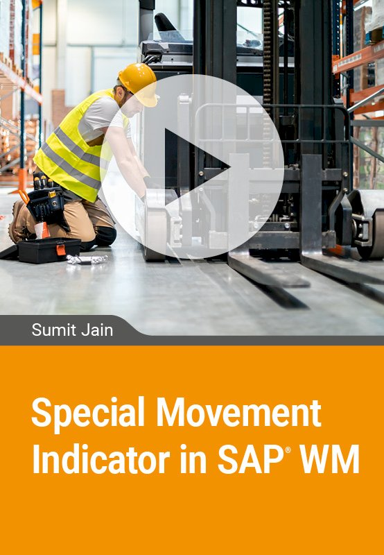 Special Movement Indicator in SAP WM